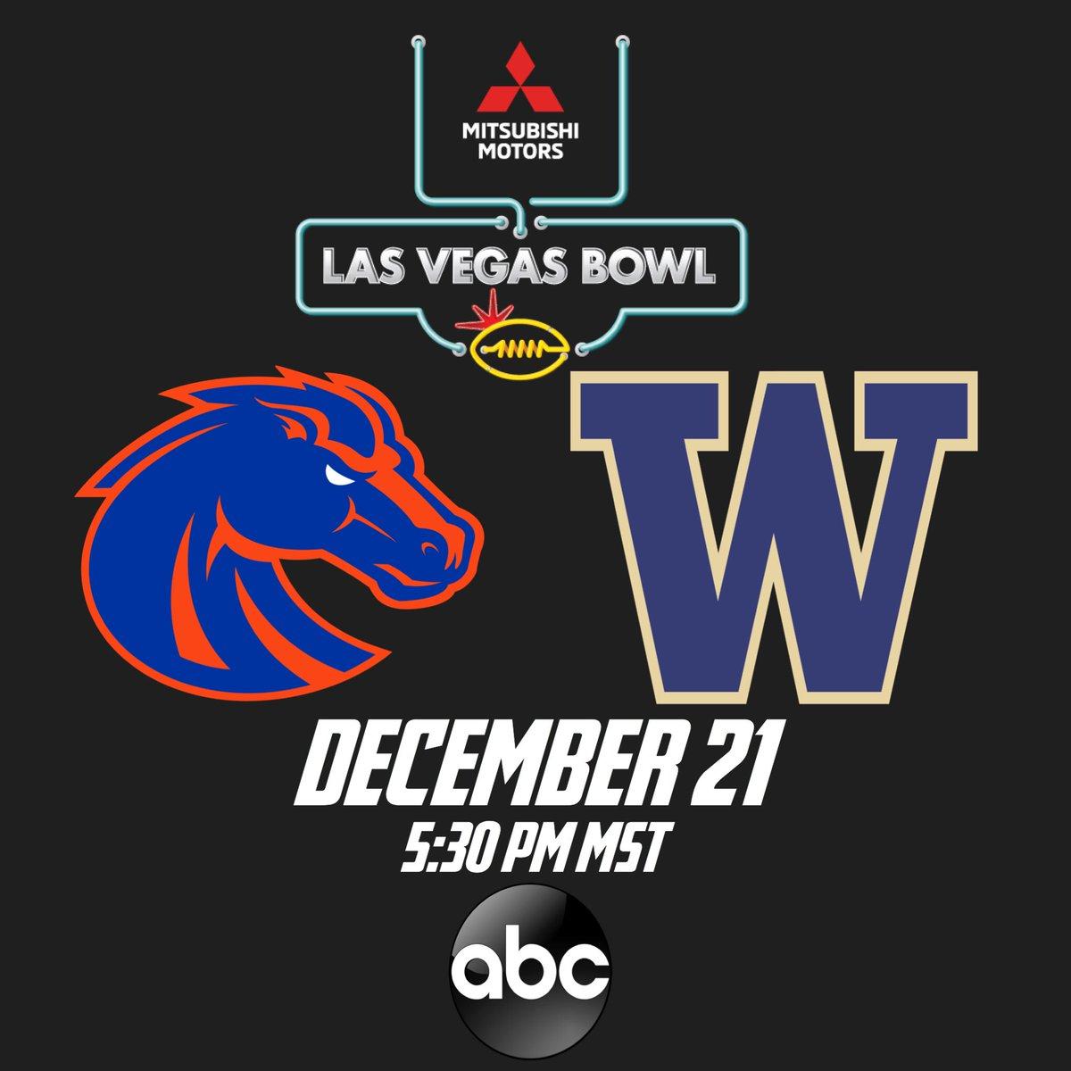 OFFICIAL: Bsu vs Washington in Chris Petersen's final. game vs his old team Boise State. LAS VEGAS BOWL Dec. 21st 7:30 EST ABC <br>http://pic.twitter.com/FMTtOHPxTV