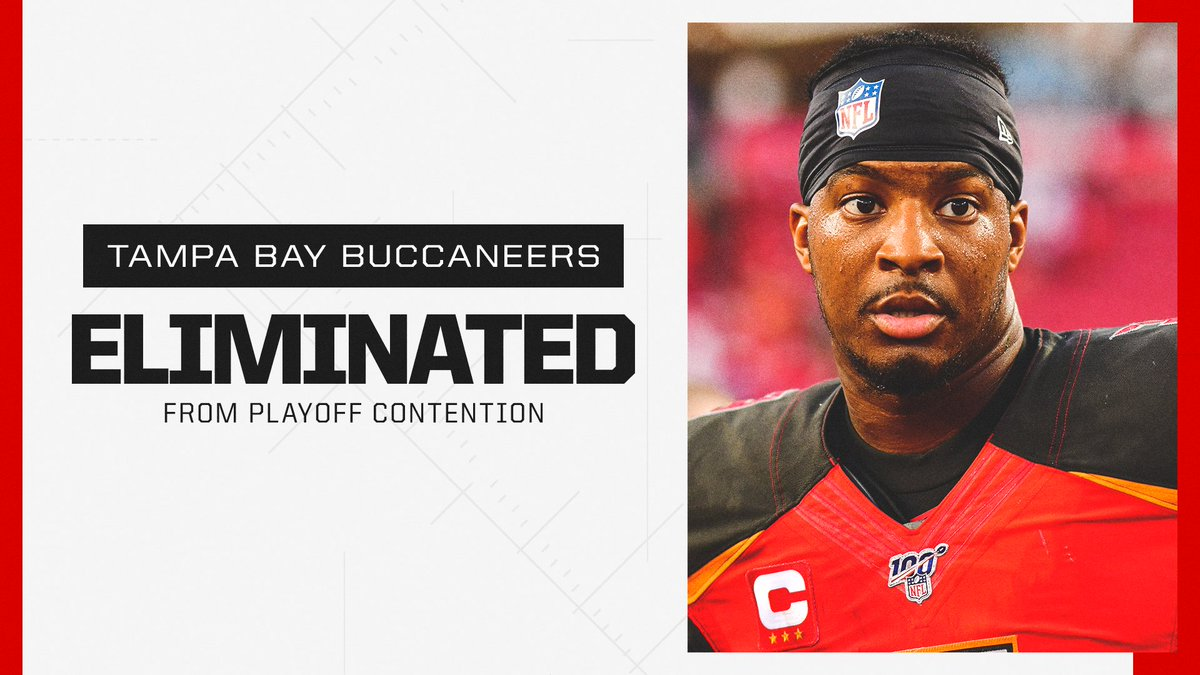The Buccaneers are officially out of playoff contention.   They have not made the playoffs since 2007.