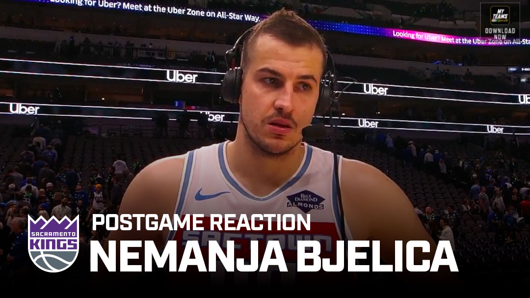 """""""One of [my] best...for sure.""""  @NemanjaBjelica speaks on his stellar night in the win over Dallas 🎙"""