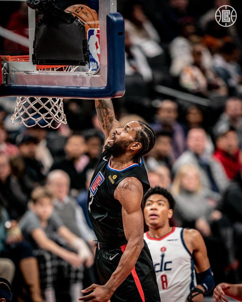 ENCERRADO: - O Los Angeles Clippers (17-7), fora de casa, venceu o Washington Wizards (7-15) por 135-119. KAWHI: 34PTS, 11REB & 5AST. George: 27pts, 6reb & 6ast. Brown Jr: 22pts, 5reb & 4ast. Bertans: 25pts, 3reb & 2ast. #ClipperNation