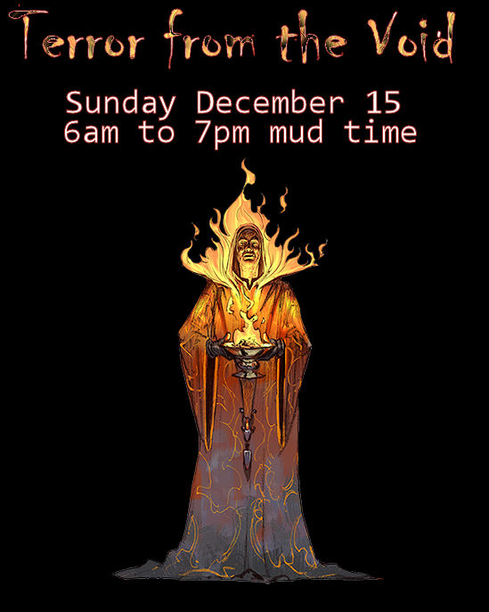 #Quest Alert: Hear ye! Adventurers are given advance notice of an extended duration quest to take place Sunday December 15th from 6am to approximately 7pm mudtime. Quest News will be updated with further information soon. - Erin #fantasy #medievaltwitter #FundaySunday #freegames