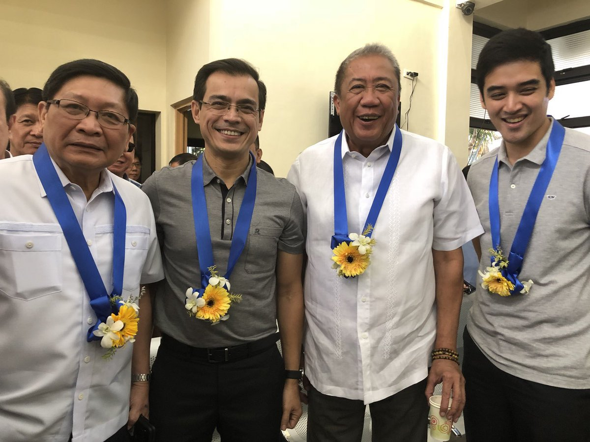 HAPPENING NOW: Manila City Mayor @IskoMoreno and Pasig City Mayor @VicoSotto join the relaunching of the Pasig River Ferry Service at the Lawton Ferry Station | via Faye Orellana/MPIO #BagongMaynila