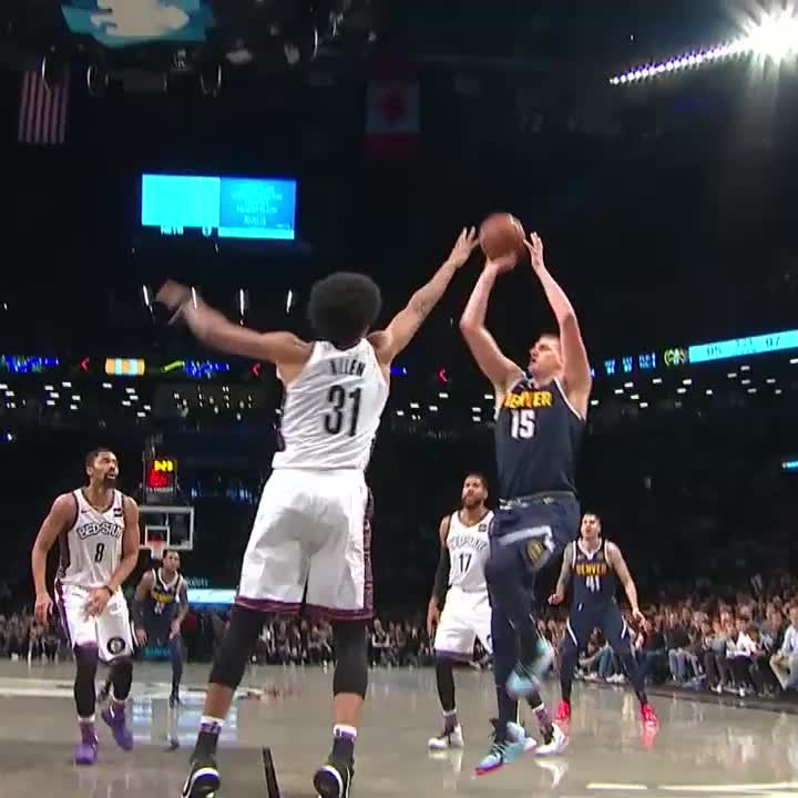 Joker hits the one-legged fadeaway 👀  #MileHighBasketball