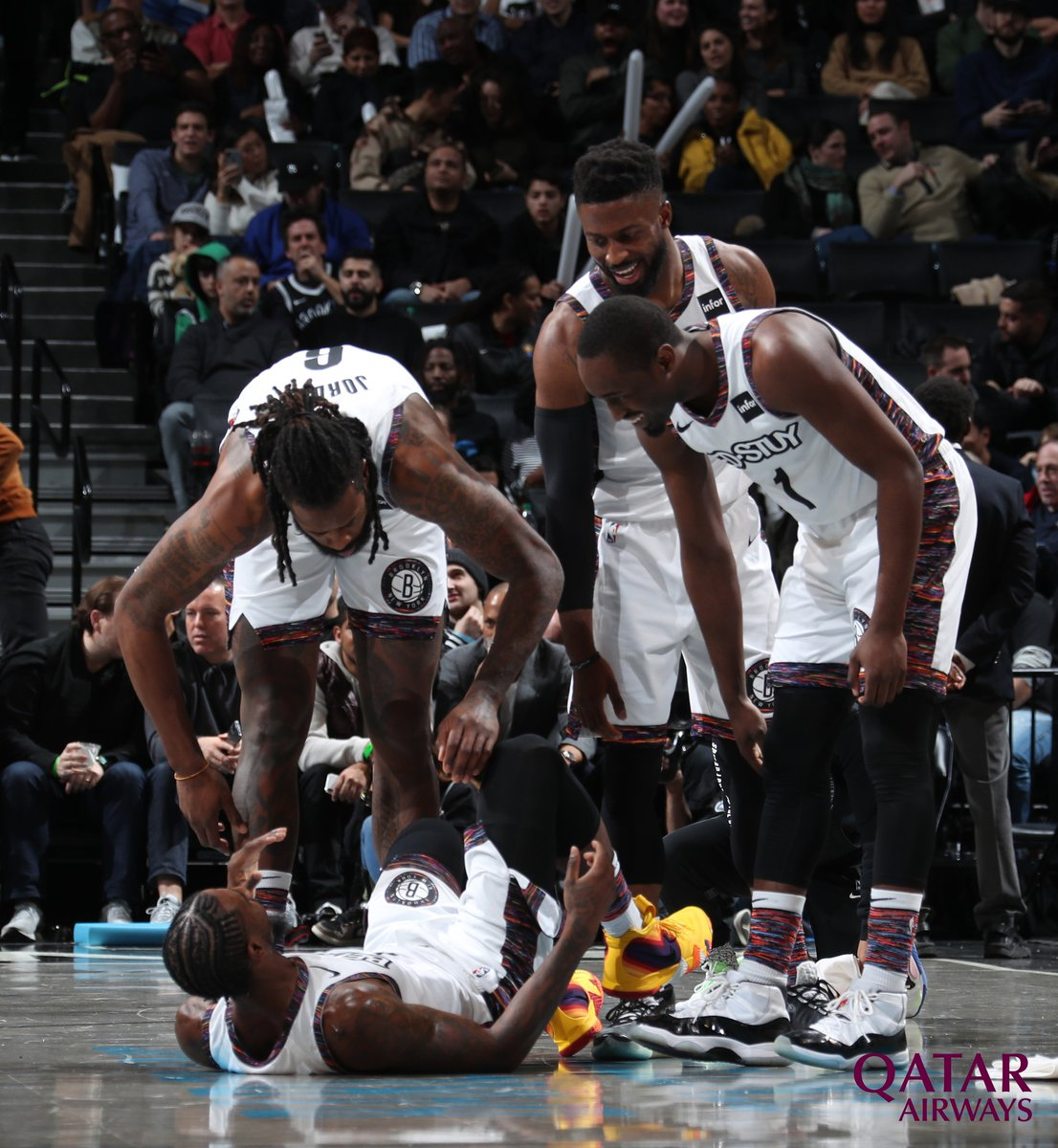 Replying to @BrooklynNets: We pick each other up 😁  Photo of the Night 📸