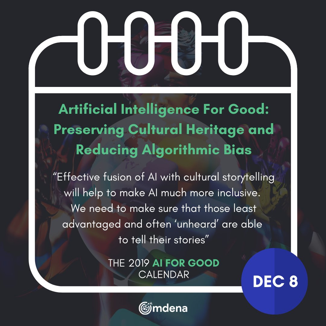 test Twitter Media - The #AIforGood calendar - A promising way of making #ArtificialIntelligence more inclusive and less biased by integrating cultural heritage data. 👇 🌎 🌍 🌏  The Full Blog Post by @sibaraki 👇 https://t.co/QTjbikw6Rl  #AI #machinelearning https://t.co/P18tc68V1g