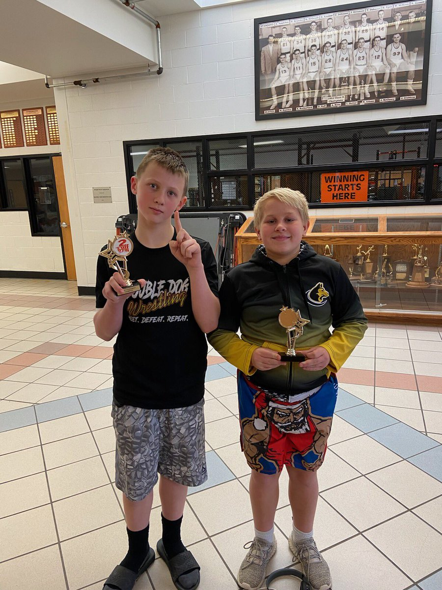Kicked off #DoubleDog wrestling season down in Hastings today. These 2 dogs brought home 1st! Favorite season is started! #grind