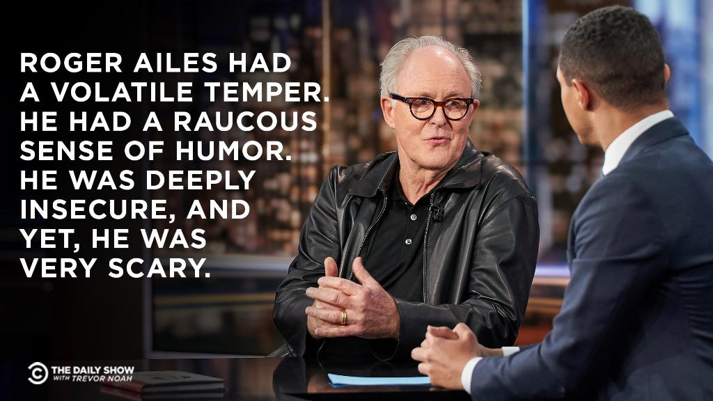 """.@JohnLithgow on portraying Fox News's Roger Ailes in """"Bombshell."""" Full interview: https://on.cc.com/2YqjDoP"""