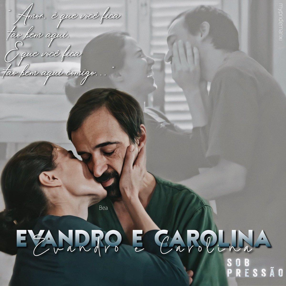 Evandro e Carolina 🖤 Ai que saudade do meu casal!  #Evandrina #SobPressão https://t.co/vmvWuJ19uk