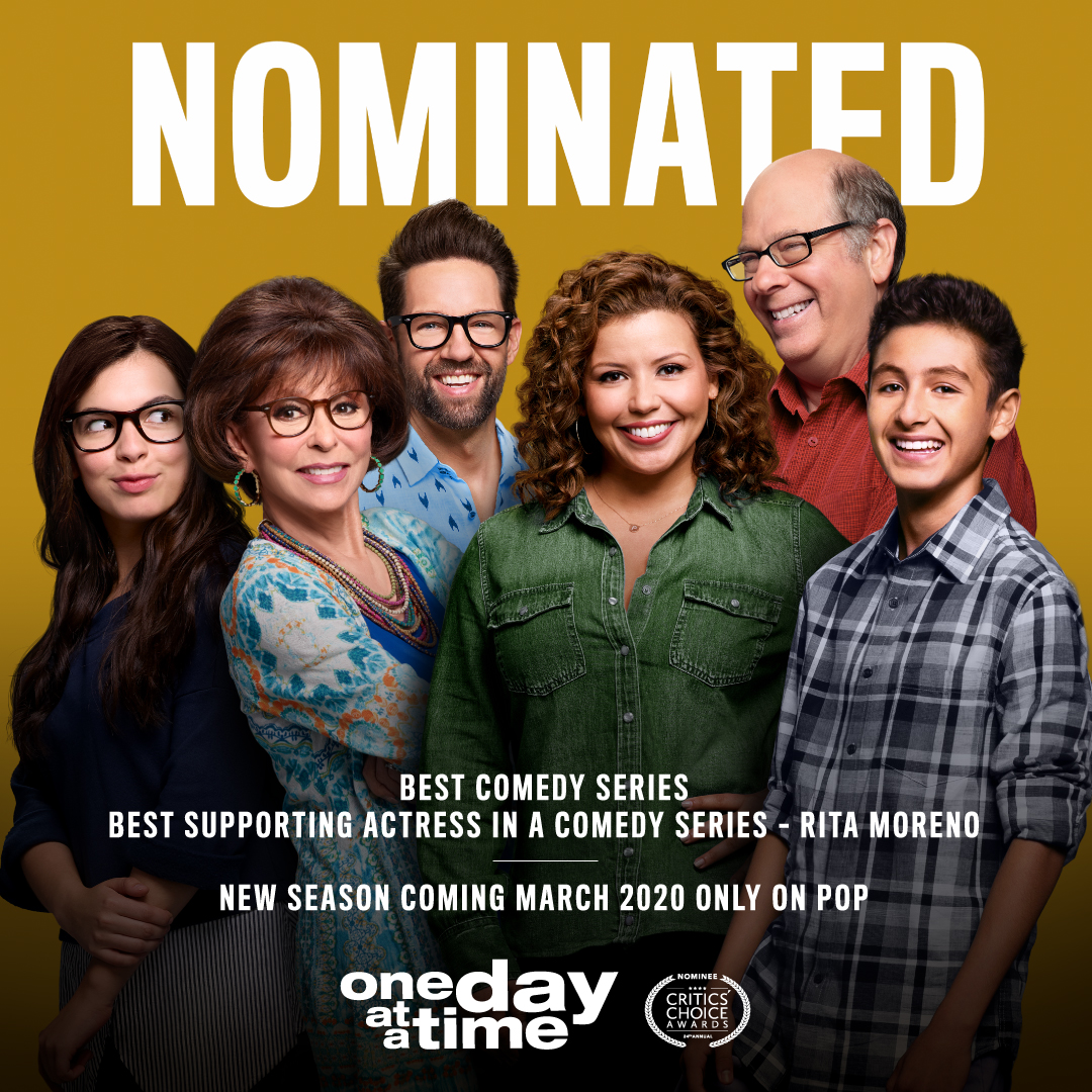 Thank you to the @CriticsChoice on the noms! New Season of #ODAAT coming March 2020 only on @PopTV.