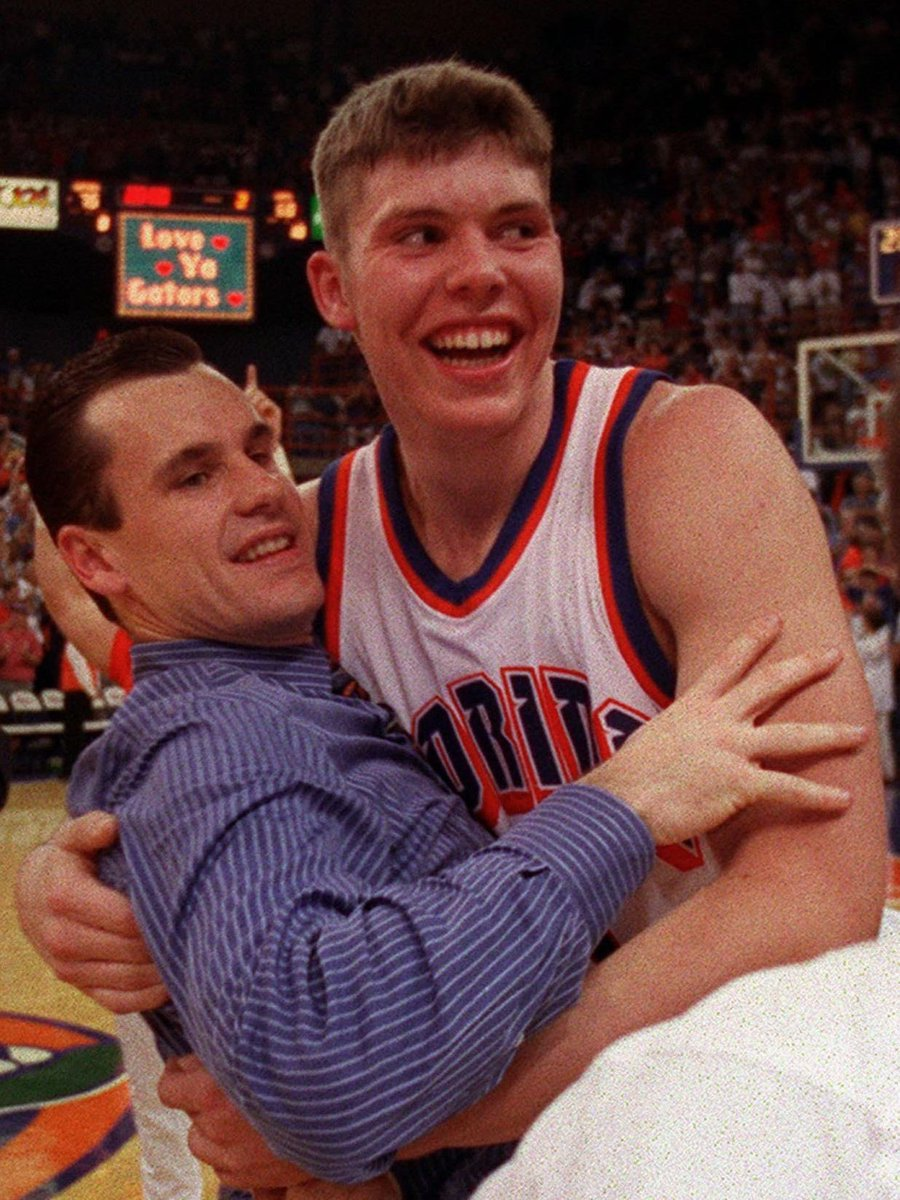 Coach Billy Donovan, a legend forever in Gainesville.