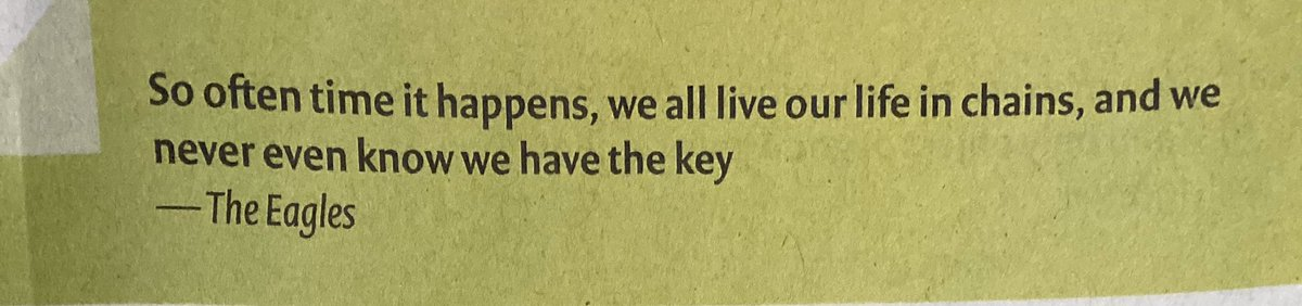 Good #MorningNutritionSo often time it happens, we all live our life in chains, and we never even know we have the key.—-The Eagles. From—The Speaking Tree Sunday Paper. – at Pondicherry Museum
