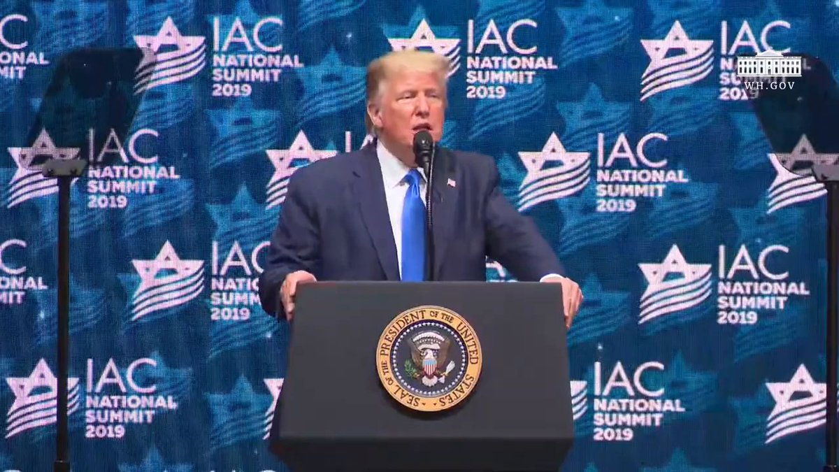 Yesterday, President @realDonaldTrump delivered remarks at the Israeli American Council National Summit.