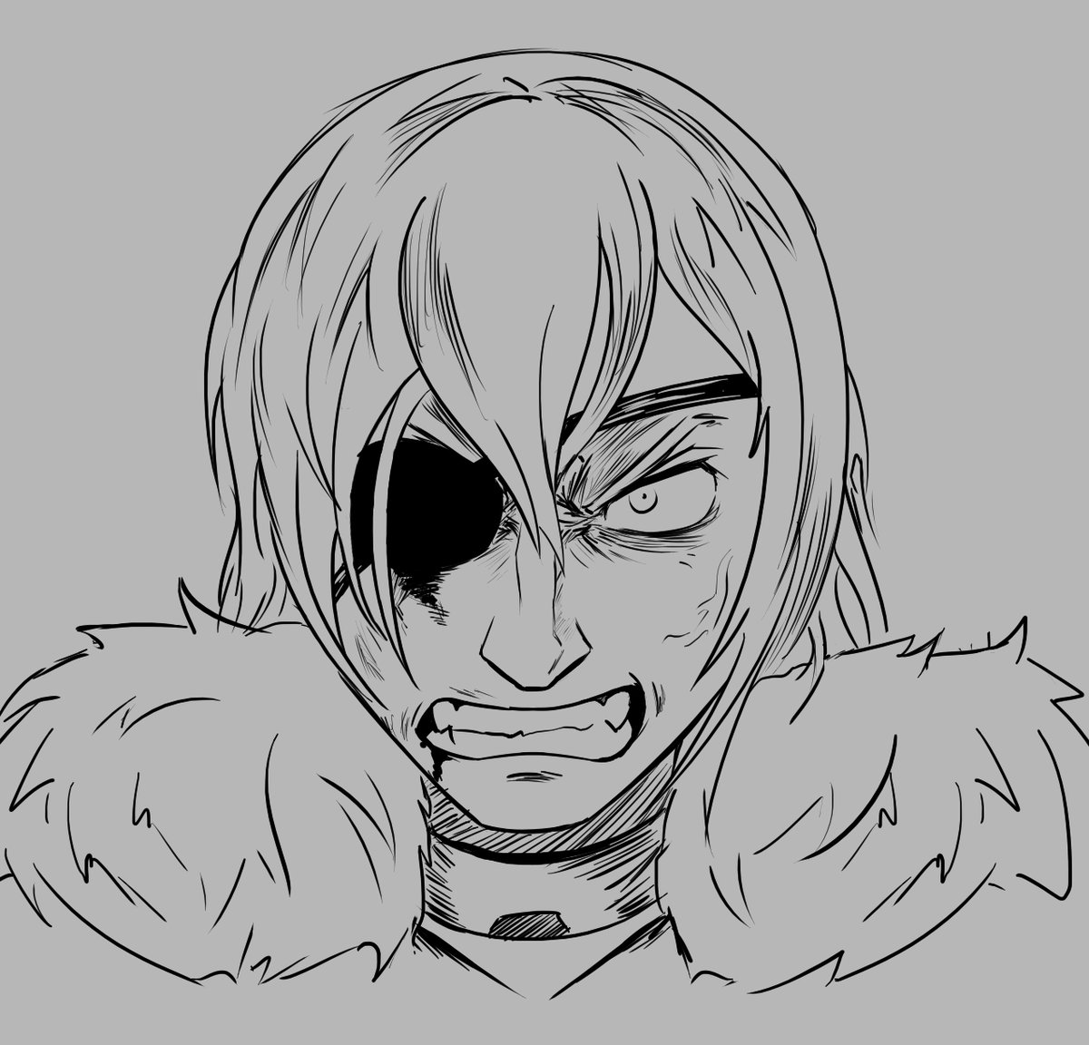 Testing out drawing angry emotions today and also tried a pen sketch, so I redrew a drawing I did of angry boi Dmitri.  Think it's worked out well. #fe3h #fireemblem3houses #BlueLions<br>http://pic.twitter.com/HCwzvWEYSD