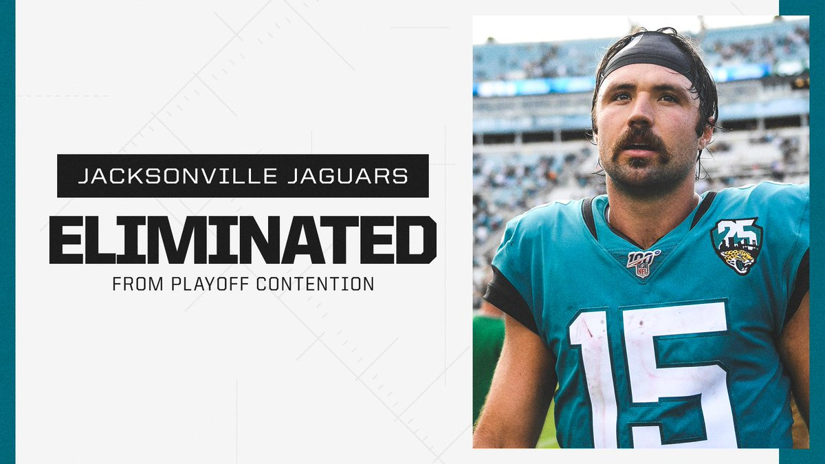 With their loss to the Chargers, the Jaguars have been officially eliminated from playoff contention.