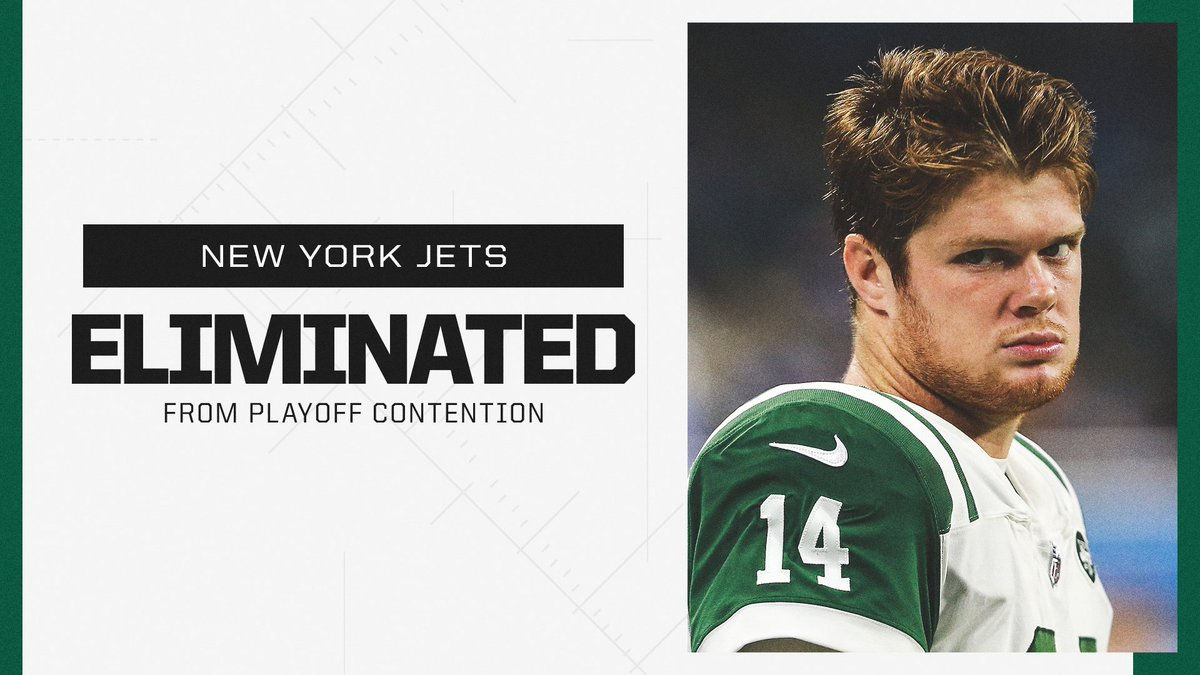 With wins by the Titans and Steelers, the Jets have officially been eliminated from playoff contention.