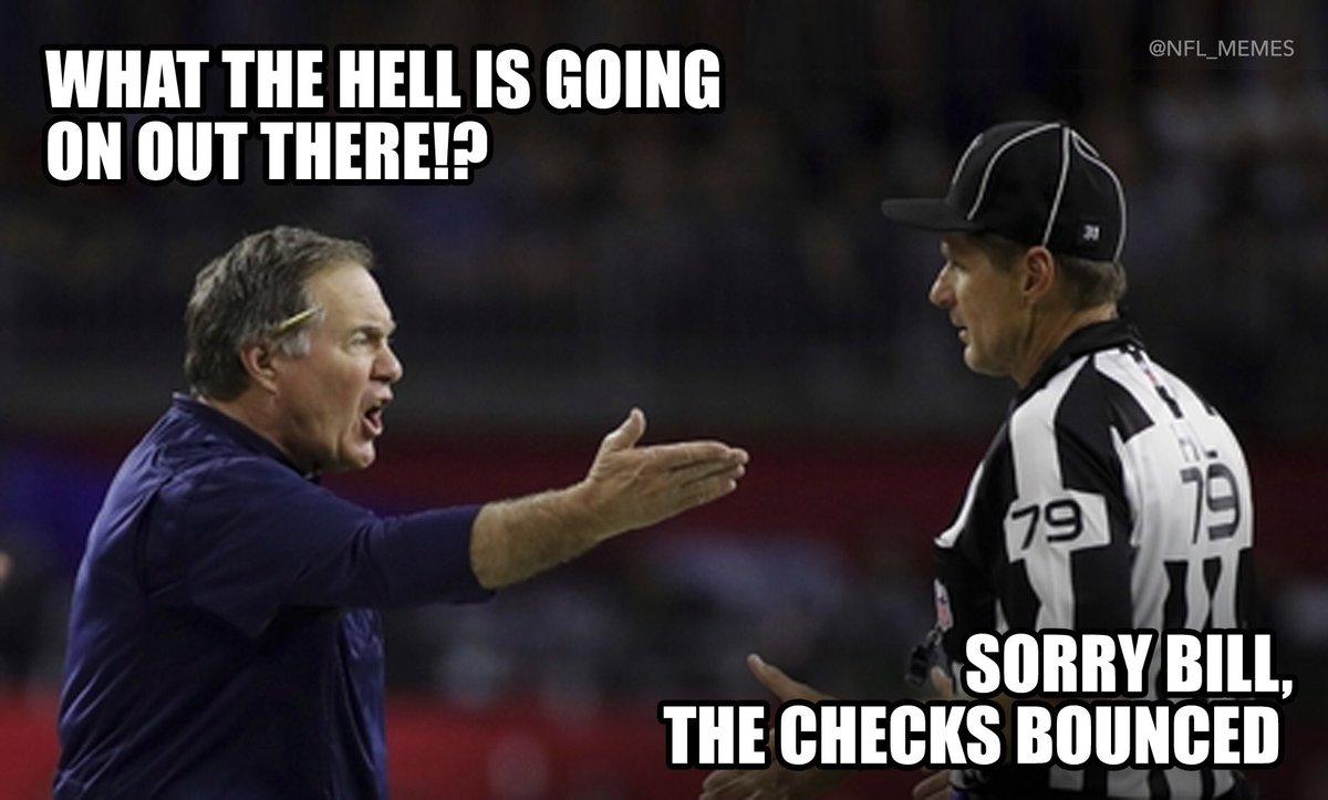 "NFL Memes on Twitter: ""Bill Belichick...… """