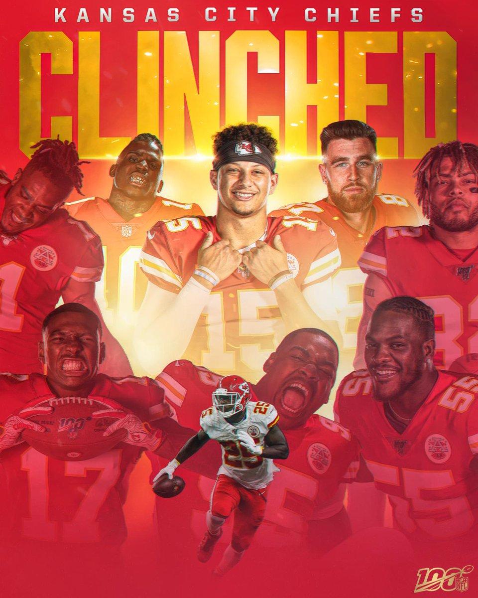 The @Chiefs clinch their fourth straight AFC West title! #ChiefsKingdom