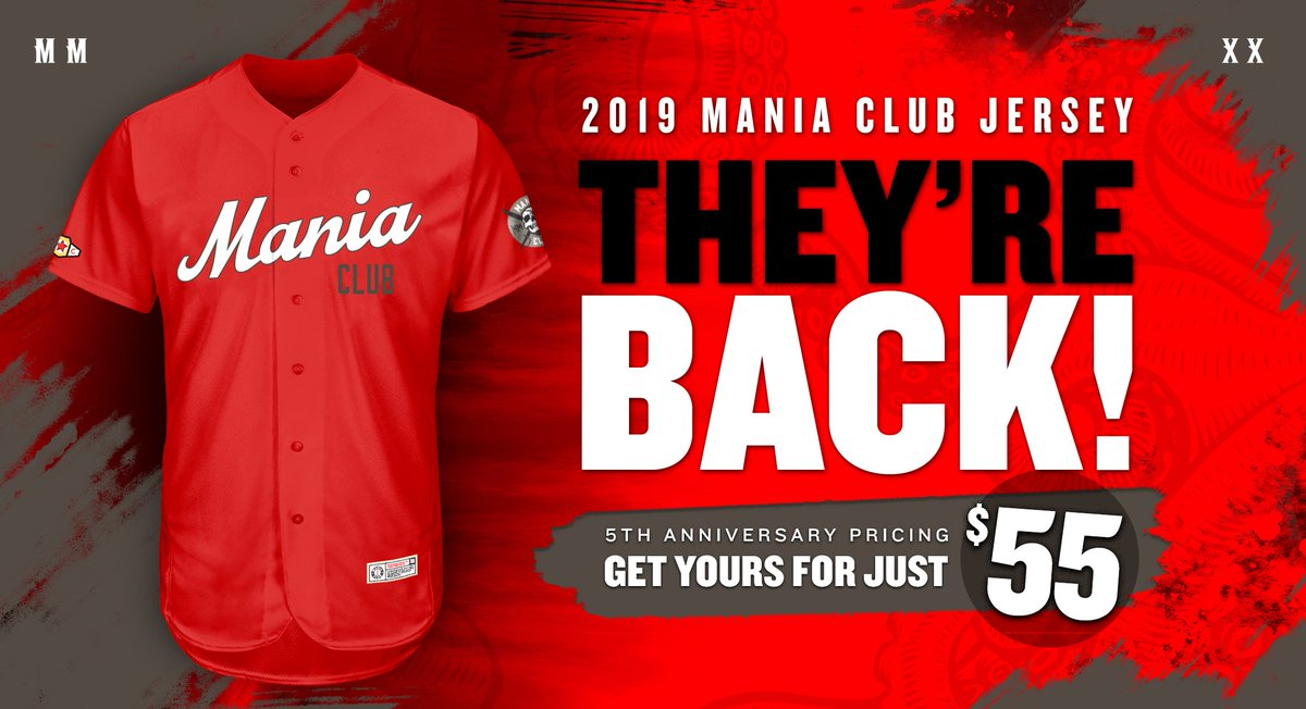 The 2019 Mania Club jersey is back! Get yours today at the special Mania Club 5th Anniversary price of just $55.Join the fight against paediatric cancer and raise awareness for @ConnorsCure.DM for details.