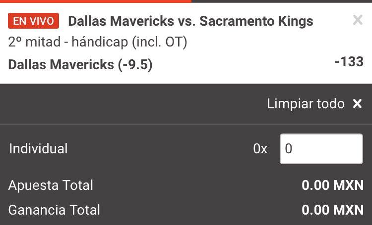 #FREEPICK #NBA: ¿Mavs gana por 10 puntos la segunda mitad? No tengo pruebas pero tampoco dudas .