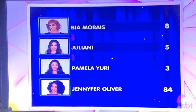Resultado da competição (Foto: Reprodução)