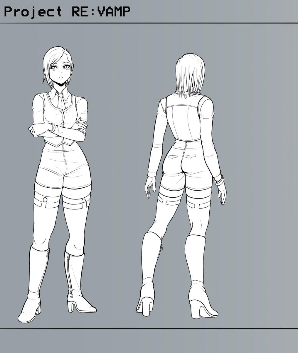 WIP, Not sure what to name her yet. She's related to Ayumi. #ProjectReVAMP Insta: VaporwaveNinja DeviantART: VaporNinja #art #digitaldrawing #painttoolsai #ArtistOnTwitter #artistoninstagram #drawing #sketch #project #webcomic #concept #cyberpunk #comic #conceptart #characterart