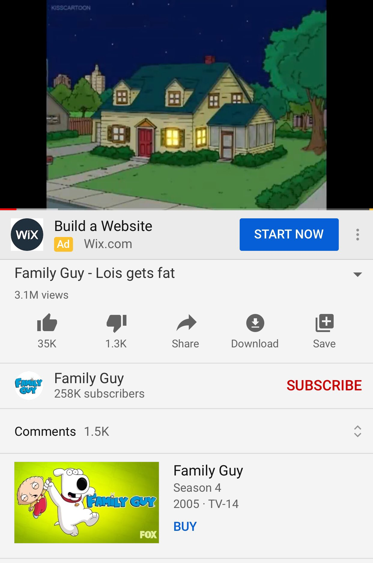 May The Poopere On Twitter Kisscartoon Is So Convenient That The Official Family Guy Youtube Channel Uses It To Get Clips Of Their Own Show