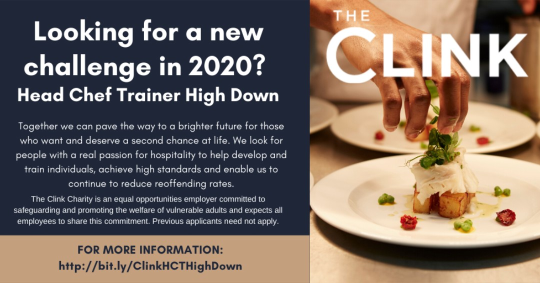 LOOKING FOR YOUR NEXT ROLE IN 2020? Were searching for a new Head Chef Trainer for The Clink High Down. With Jan 2020 start, apply here bit.ly/ClinkHCTHighDo… #TheClink #NewRole #ChefVacancies #Surrey #Jobs #Catering #Hospitality #2020 #Chefs #Training #newjob #cateringjob