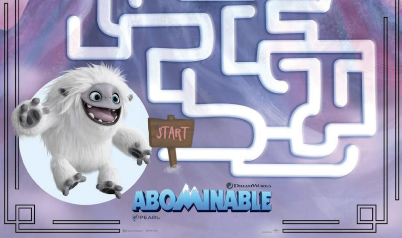 Looking for some activities for kids during #HolidaySeason? Check out a richly illustrated set of #Printable #mazes, #coloring pages, #puzzles, and #recipes from the #Abominable animation #movie. #MyWowGift #gifts #coloringpages #homeschool #colouring http://bit.ly/2Pf8D9y