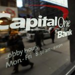 Image for the Tweet beginning: Capital One is a banking-peer