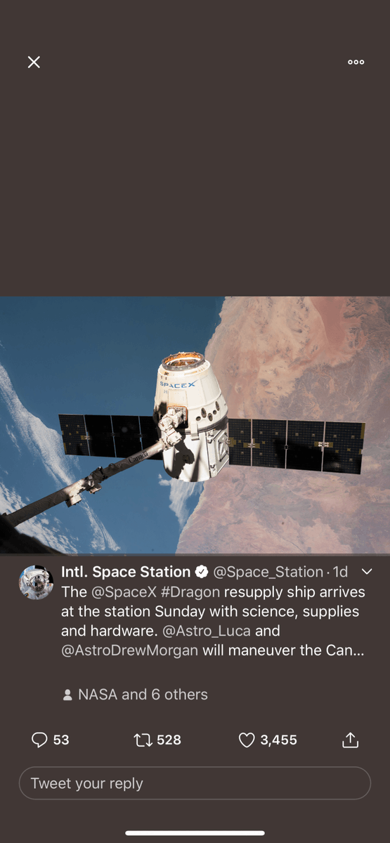 #SpaceX's #Dragon capsule successfully docked with the #InternationalSpaceStation early Sunday morning, #NASA said #ElonMusk