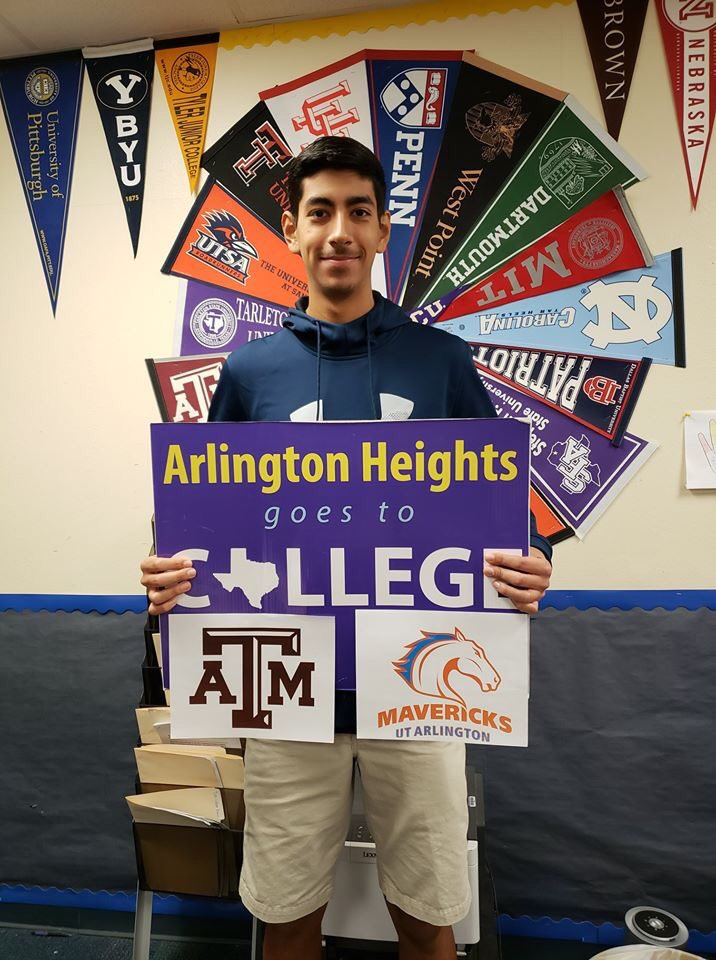 Congrats baseball senior on being accepted do Texas A&M and University of Texas Arlington