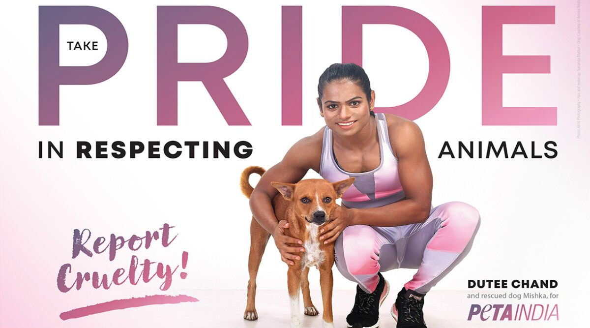#Odisha's #DuteeChand Stars In New PETA India Ad. Read more https://bit.ly/3563hEu  @DuteeChand  @PetaIndia