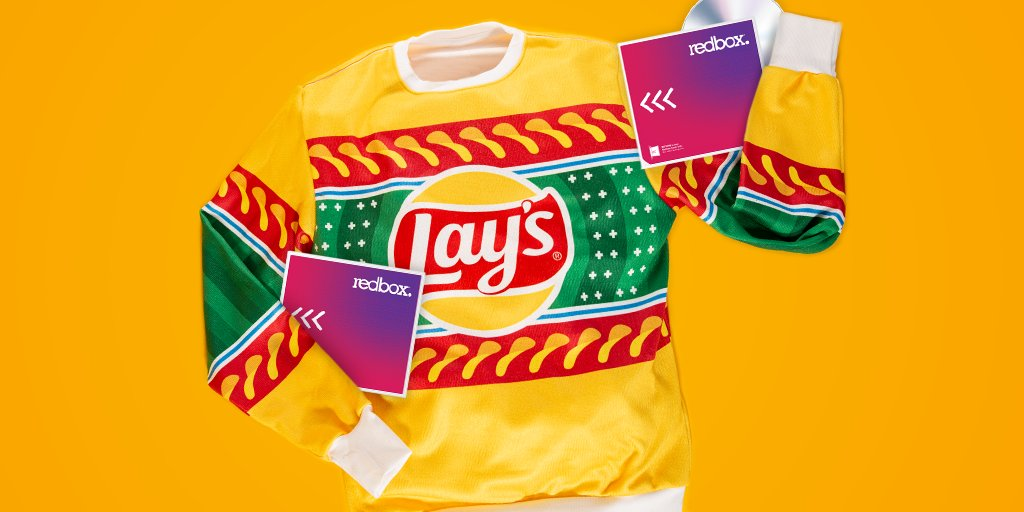 Ready to throw on this sweater and watch a holiday movie. Any suggestions, @Redbox?