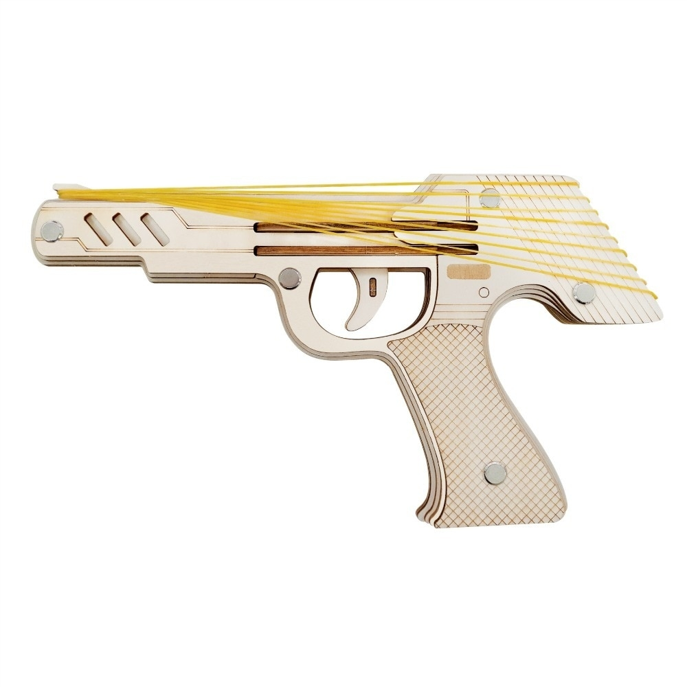 #style #likeforlike Rubber Gun With 3D Wooden Puzzle Gift For Birthday Get here