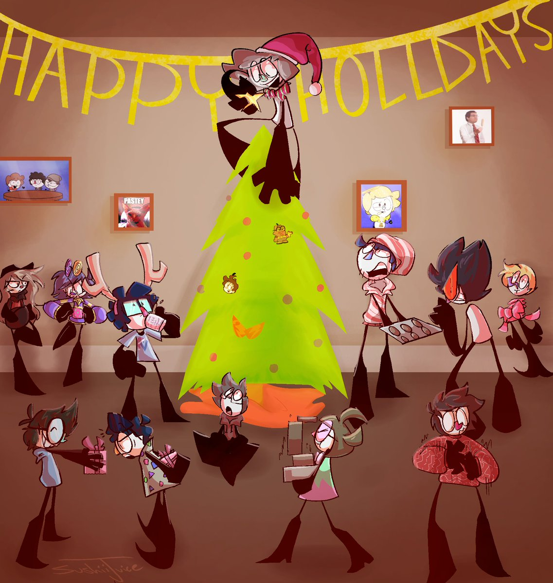Happy holidays from the DKdiscord <3 this took longer than i thought hgrkghjhg <br>http://pic.twitter.com/5grwfdS1Or