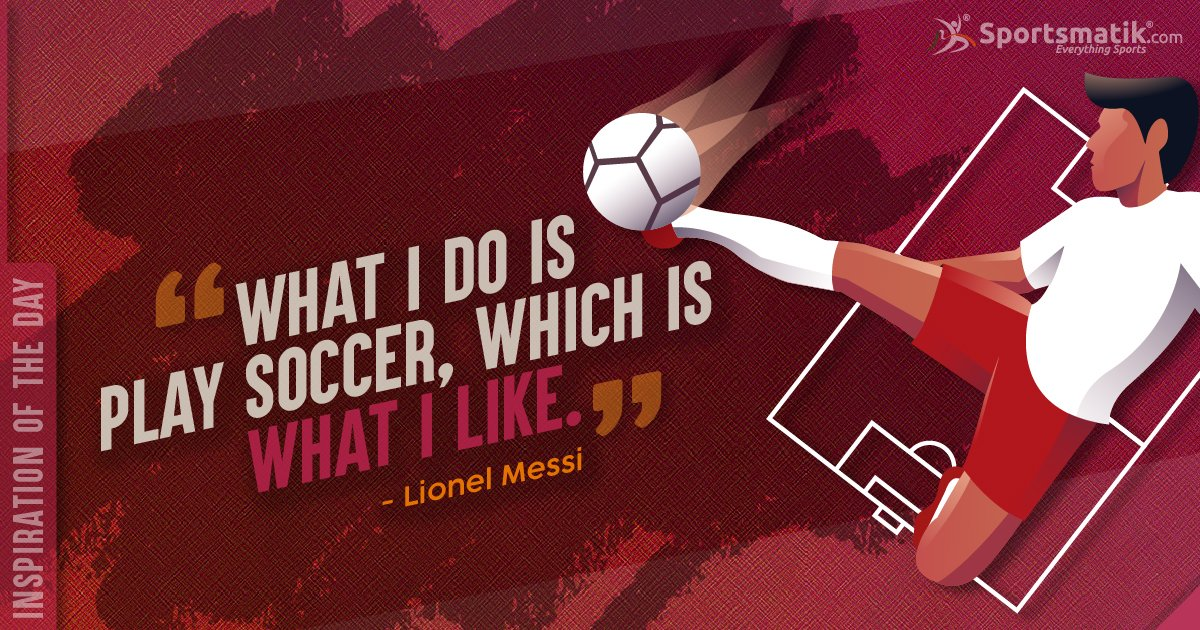 Inspiration of the day - #LionelMessihttps://sportsmatik.com/inspirations#sportsmatik #inspirationoftheday #Soccer #Football #Argentina