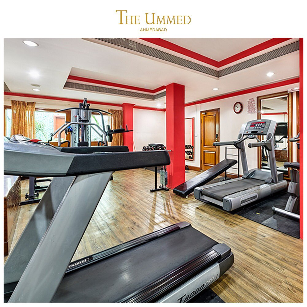 Wellness never stop for the initiated. Our fitness facility is a welcome boost for travelers on the lookout for a quick workout. #theummedahmedabad #ahmedabad #fitness #gym #workout #healthy #healthylifestyle