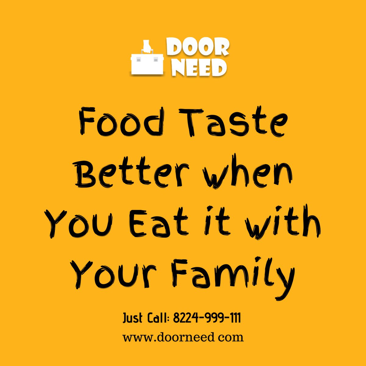 😋Food Taste😊 Better When 😘You Eat it with🍝 your Family!! just call:  8224-999-111    #doorneed😊 #food #delivery🛵 #services #favoritefood🥘 #restaurants👌 #delicious #taste😋 #yummy #doorstap🏠 #eat #better #localdelivery 💐#flower #cakes🎂 #ordernow