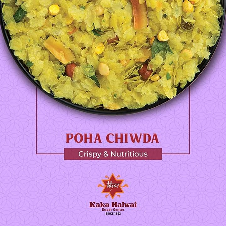 The nutritious Poha Chiwda from Kaka Halwai Sweet Center is a healthy solution to curb your cravings. . . #kakahalwai #sweetcenter #poha #chiwda #crunchy #nutritious #delicious #snacks #mithai #namkeens #pune #sweeetshop #spreadingsweetness #since1892 #sixgeneration #puneri