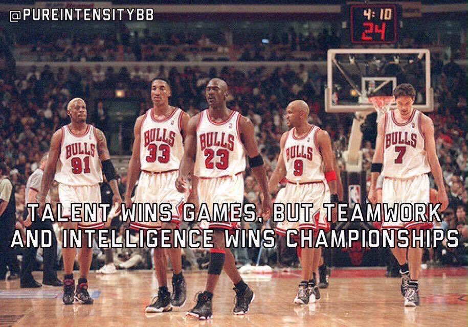 Talent wins games, but teamwork and intelligence wins championships. <br>http://pic.twitter.com/5URfBVDGa8