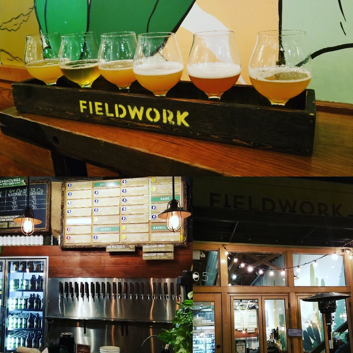 Enjoying amazing brews at this Beervana!@fieldworkbrewing_sacramento #ddh #craftbeer #craft #beer #beerporn #hophead #beers #beeradvocate #hoppythoughts #brewery #brewerypak #craftnotcrap #beergasm #fortheloveofthebeer #beerolympics #drinklocal #sacramento #ca #delicious #cheers
