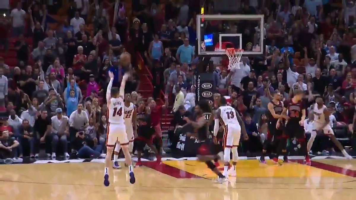 Jimmy Butler follows his shot to set up Tyler Herro for your Heads Up Play of the Day!