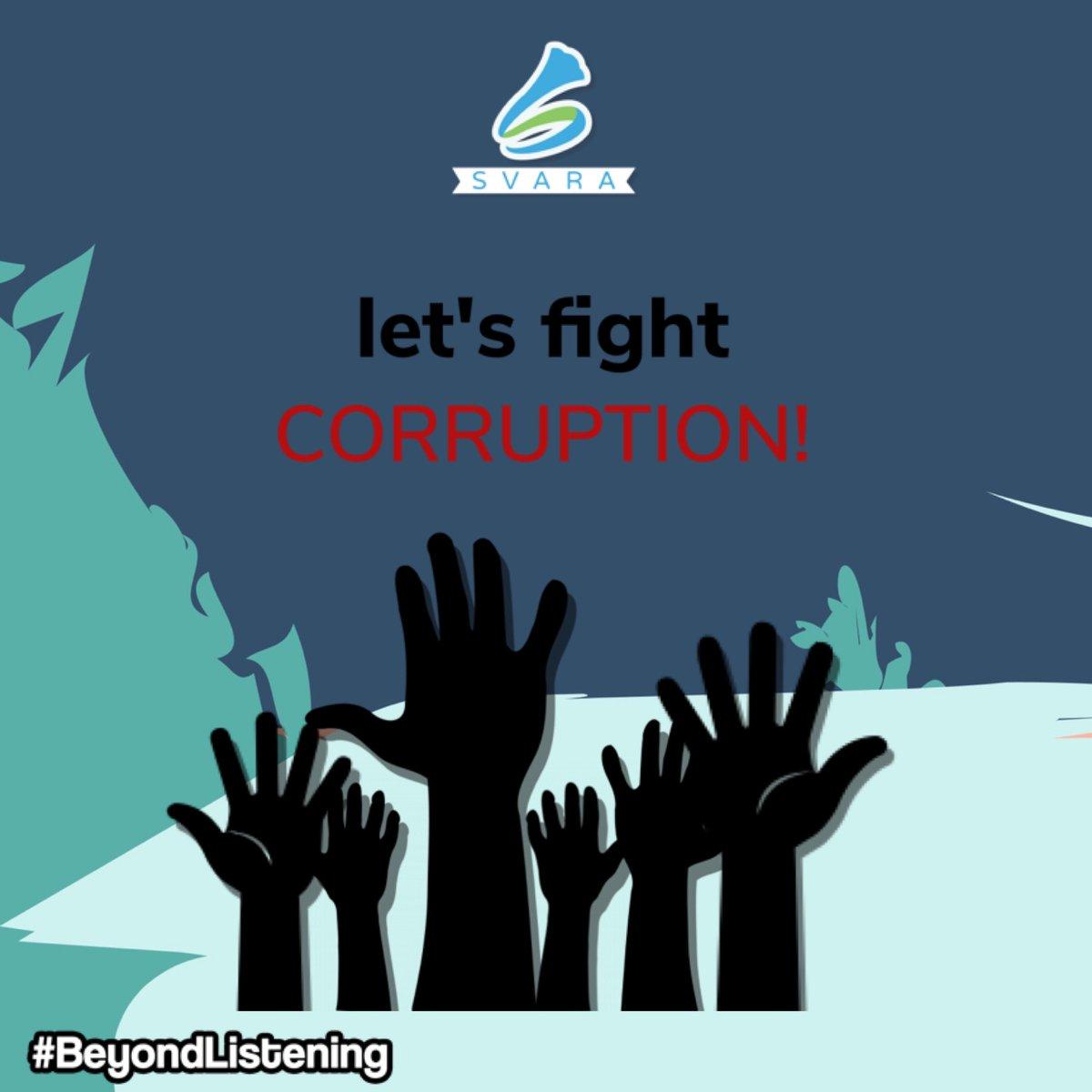 Ayoo Svaranian mari kita bersatu padu, berpegang erat pada hati nuranikita untuk katakan tidak pada korupsi. Melakukan korupsi sama saja dengan menghina dan merendahkan diri sendiri. Selamat Hari Anti Korupsi Sedunia. . . . #SVARA #beyondlistening pic.twitter.com/WLzobbltyK