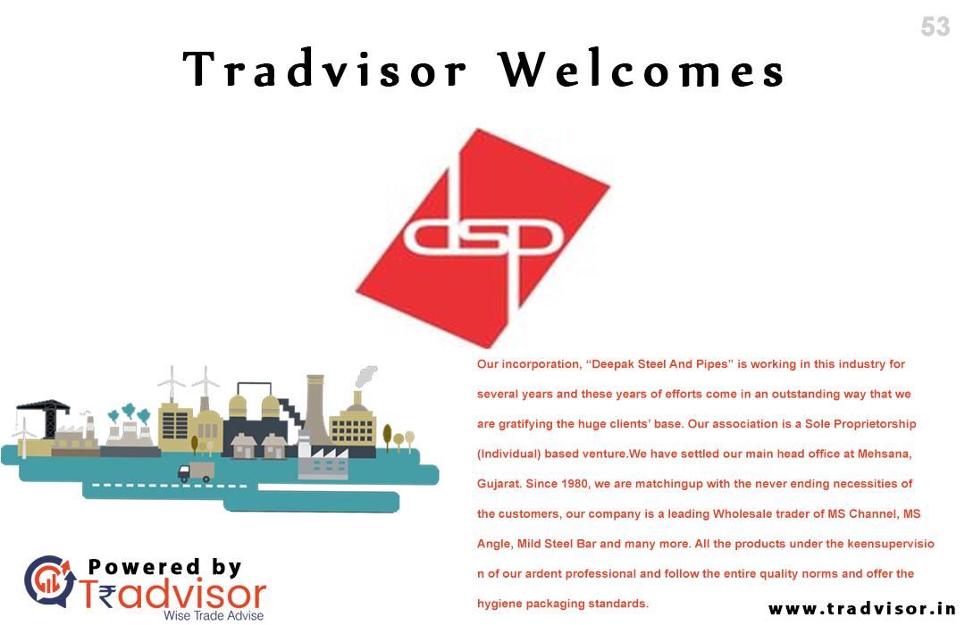 Tradvisor Welcome to #deepaksteel the Best B2B Platform in India.  #Tradvisor #Best #B2Bwebsite #Platform #Business #Trading #Advice #DigitalMarketing #SEO #Ahmedabad #Gujarat #India #industries