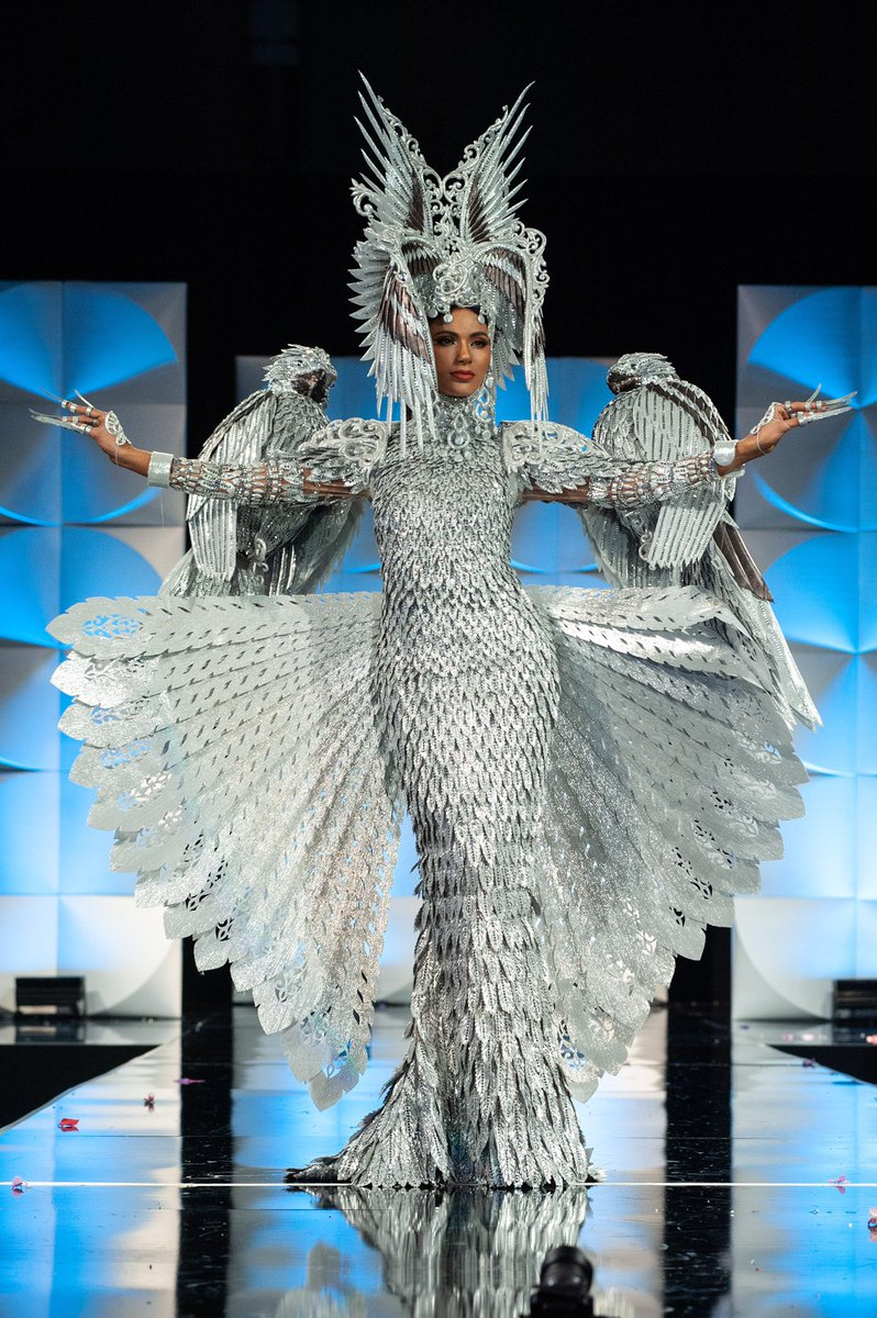 .@IAmSteveHarvey had it right: Miss Universe Philippines Gazini Ganados is the winner of the #MissUniverse2019 National Costume competition! Congratulations, Gazini. 🎉