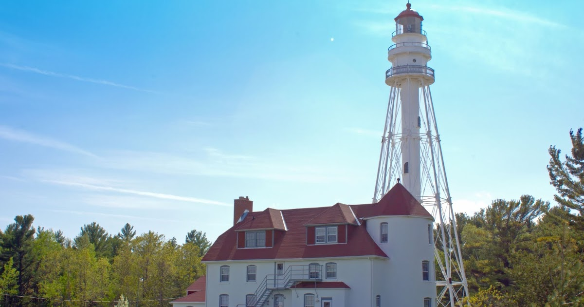 Hike to one-of-a-kind Great Lakes lighthouse  #lighthouses #travelwi #lakemichigan