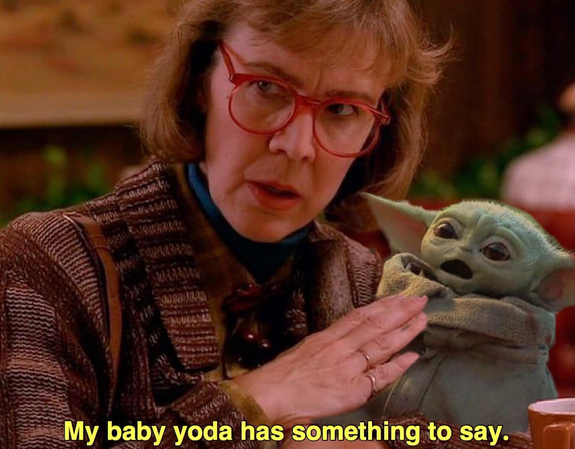 Replying to @ImoveCar: With full credit to the great Andre Costa. #TwinPeaks #BabyYoda #StarWars