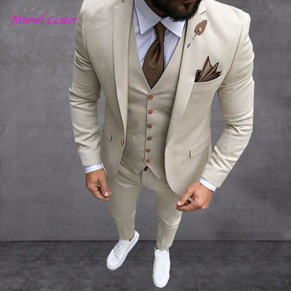 #menstyle Latest Coat Pant Designs Beige Men Suit Prom Tuxedo Slim Fit 3 Piece Groom Wedding Suits For Men Custom Blazer Terno Masuclino <br>http://pic.twitter.com/MXdNv4beX2