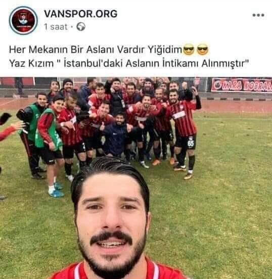 Tuzlaspor'u 3-0 yenen Vanspor'un paylaşımı..Eyvallah..