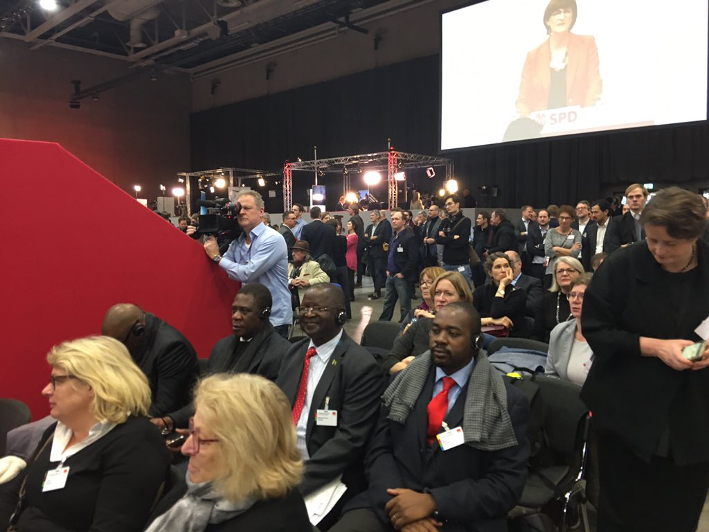 So honoured to be in Germany, Berlin to attend the Germany Social Democratic Party SPD conference together with the ANC and Chama Cha Mapinduzi.Also had high profile meetings with the Germany govt on governance,trade and development.The future is exciting.The goodwill is amazing!